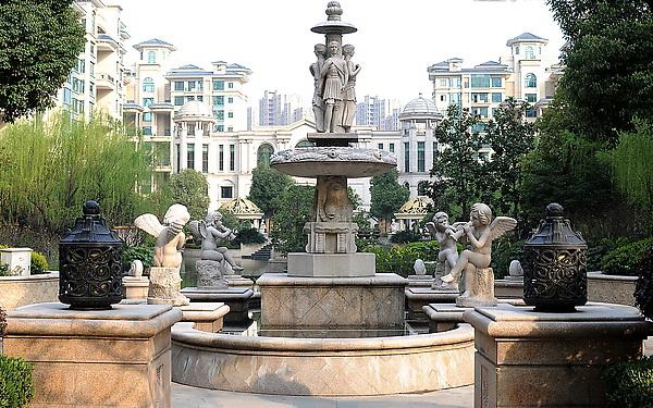 欧式美女 欧式小天使系列喷泉